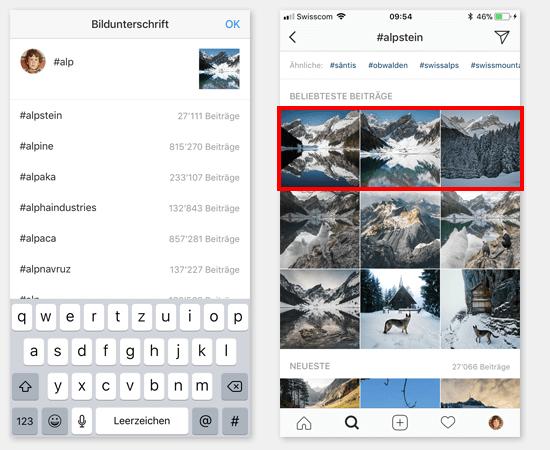instagram tipps hashtags